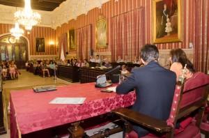 Entrega de premios, celebrada en el Salón Colón del Ayuntamiento de Sevilla